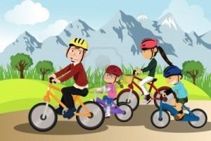 Ciclismo en familia
